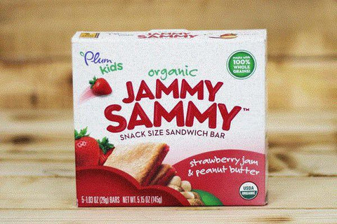 Organic Jammy Sammy Grape Jelly & Peanut Butter Bars 5.15oz