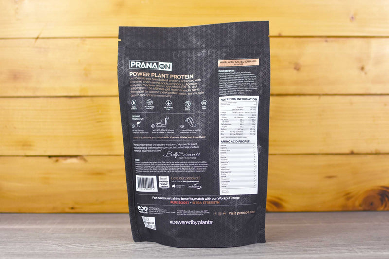 PranaOn Salted Caramel Power Plant Protein Powder 400g Pantry > Protein Powders & Supplements