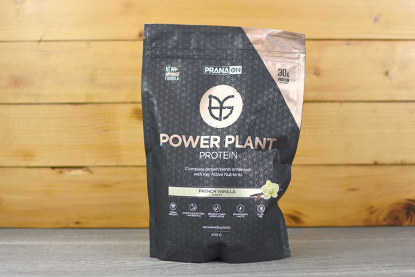 PranaOn Vanilla Power Plant Protein Powder 400g Pantry > Protein Powders & Supplements