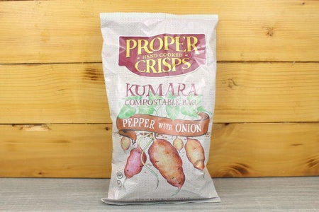 Proper Crisps Compostable Kumara Pepper & Onion 100g Pantry > Cookies, Chips & Snacks