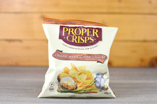 Proper Crisps Onion & Chive Chips Snackpack 40g Pantry > Chips & Savoury Snacks