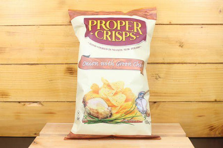 Proper Crisps PC Onion & Chive 150g Pantry > Cookies, Chips & Snacks