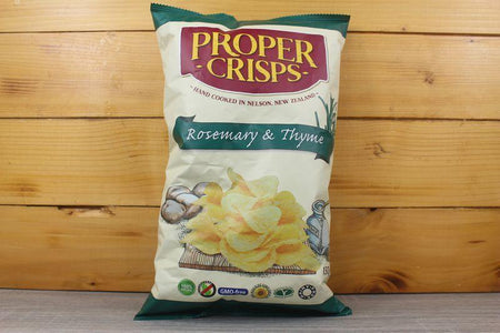 Proper Crisps Rosemary and Thyme Crisps 150g Pantry > Chips & Savoury Snacks
