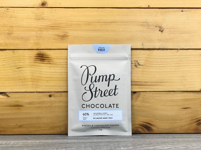 Pump Street Chocolate Ecuador Dark Milk 60% 70g Pantry > Confectionery