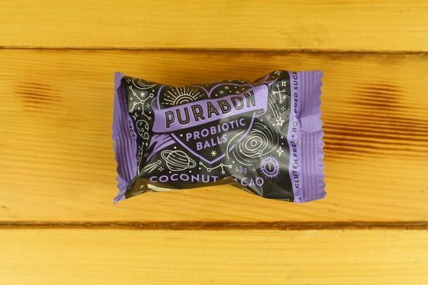 Purabon Purabon Coconut Cacao Probiotic Balls Pantry > Cookies, Chips & Snacks