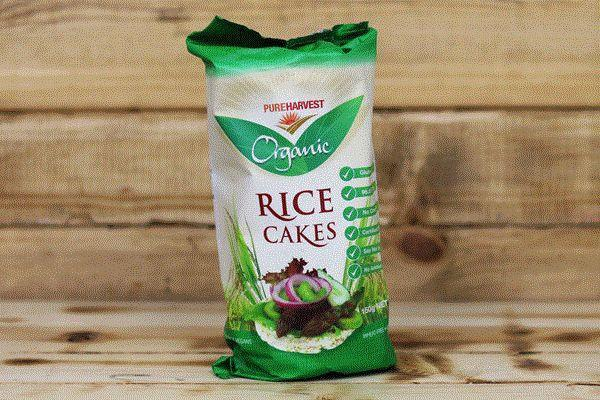 Pure Harvest Organic Rice Cakes 150g Pantry > Biscuits, Crackers & Crispbreads