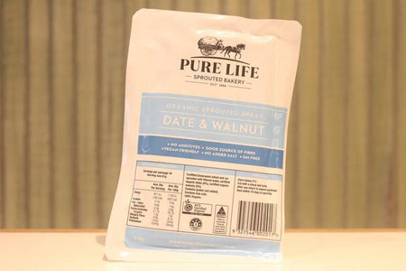 Pure Life Bakery Organic Sprouted Bread Dates and Walnuts 1.1kg Bakery > Bread
