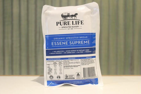 Pure Life Bakery Organic Sprouted Bread Essene Supreme 1.1kg Bakery > Bread
