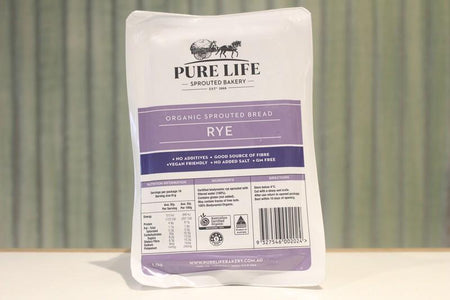 Pure Life Bakery Organic Sprouted Bread Rye 1kg Bakery > Bread