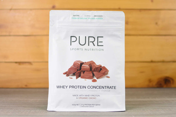 Pure Sports Nutrition Organic Cacao Whey Protein 500g Pantry > Protein Powders & Supplements