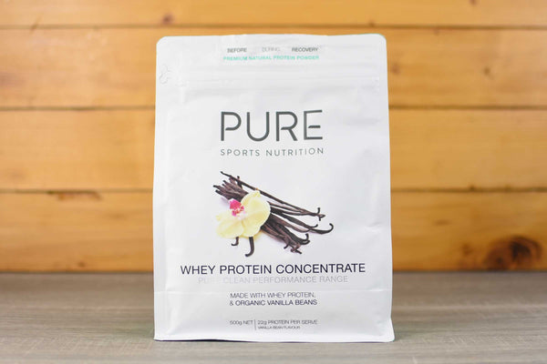 Pure Sports Nutrition Organic Vanilla Whey Protein 500g Pantry > Protein Powders & Supplements