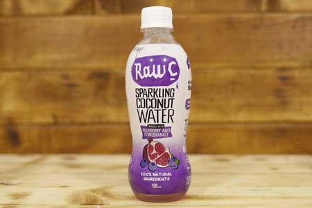 Raw C Sparkling Coconut Water Blueberry & Pomegranate 400ml Drinks > Water