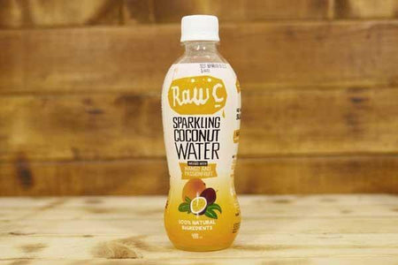 Raw C Sparkling Coconut Water Mango & Passionfruit 400ml Drinks > Water