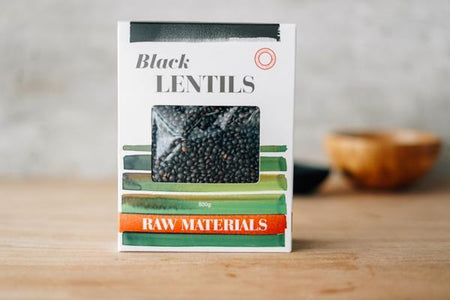 Raw Materials Black Lentils 500g Pantry > Grains, Rice & Beans