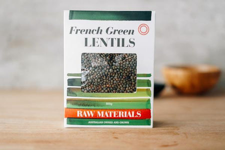 Raw Materials French Style Green Lentils 500g Pantry > Grains, Rice & Beans