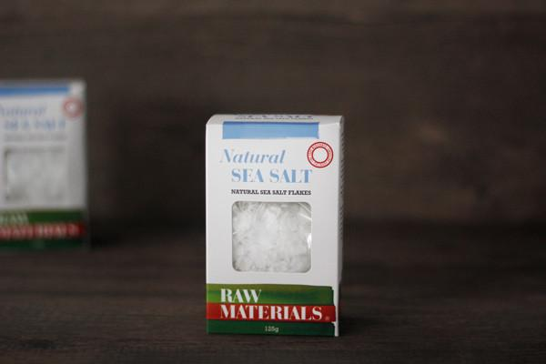 Raw Materials Natural Sea Salt Flakes 125g Pantry > Baking & Cooking Ingredients
