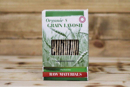 Raw Materials Organic 8 Grain Lavosh 140g Pantry > Biscuits, Crackers & Crispbreads