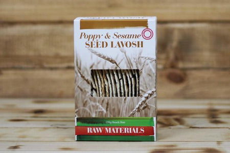Raw Materials Poppy & Sesame Lavosh Snack Size 170g Pantry > Biscuits, Crackers & Crispbreads