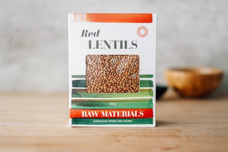Raw Materials Red Lentils 500g Pantry > Grains, Rice & Beans