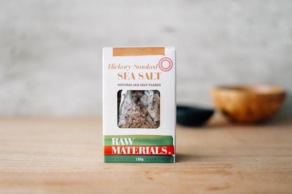 Raw Materials Salt Flakes Hickory Smoked 125g Pantry > Baking & Cooking Ingredients