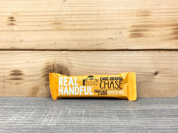 Real Handful Choc Orange Chase Protein Bar 40g Pantry > Granola, Cereal, Oats & Bars