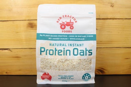 Redtrac Redtrac Nat Instant Protein Oats 400g Pantry > Granola, Cereal, Oats & Bars