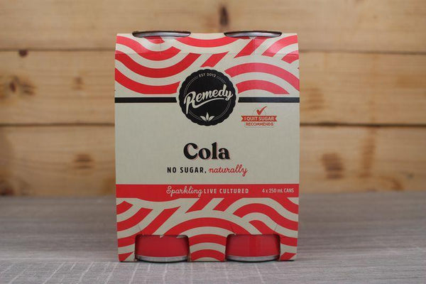 Remedy Kombucha Cola Multipack Live Cultured Soda 4 x 250ml Drinks > Soft Drinks & Mixers