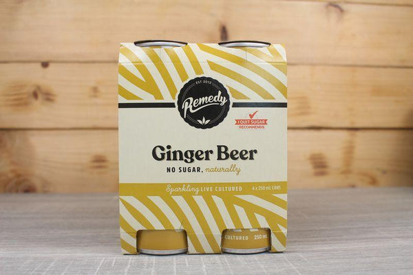 Remedy Kombucha Ginger Beer Multipack Live Cultured Soda 4 x 250ml Drinks > Soft Drinks & Mixers