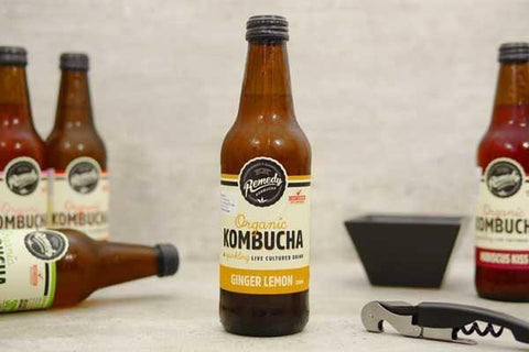 Ginger & Lemon Organic Kombucha  750ml
