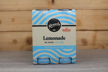 Remedy Kombucha Lemonade Multipack Live Cultured Soda 4 x 250ml Drinks > Soft Drinks & Mixers