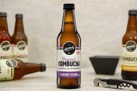 Cherry Plum Organic Kombucha Multipack 4x250ml