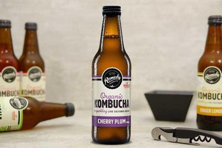 Remedy Kombucha Organic Cherry Plum Kombucha 330ml Drinks > Juice, Smoothies & More