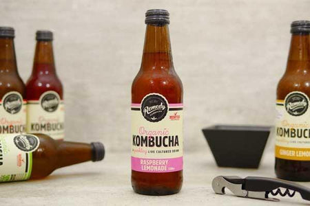 Remedy Kombucha Raspberry Lemonade Drinks > Juice, Smoothies & More