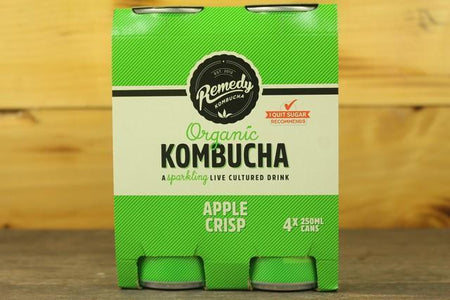 Remedy Kombucha Rko Kombucha Multipack Apple Crisp 4 X 250ml Drinks > Juice, Smoothies & More