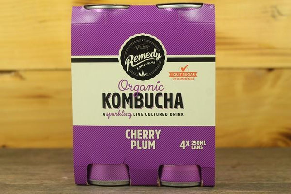 Remedy Kombucha Rko Kombucha Multipack Cherry Plum 4 X 250ml Drinks > Juice, Smoothies & More