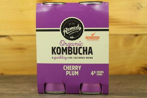 Raspberry Lemonade Organic Kombucha Multipack 4x250ml