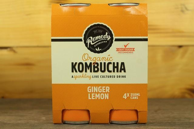 Remedy Kombucha Rko Kombucha Multipack Ginger & Lemon 4 X 250ml Drinks > Juice, Smoothies & More