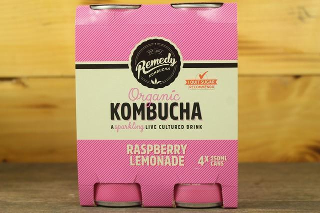 Remedy Kombucha Rko Kombucha Multipack Raspberry Lemonade 4 X 250ml Drinks > Juice, Smoothies & More
