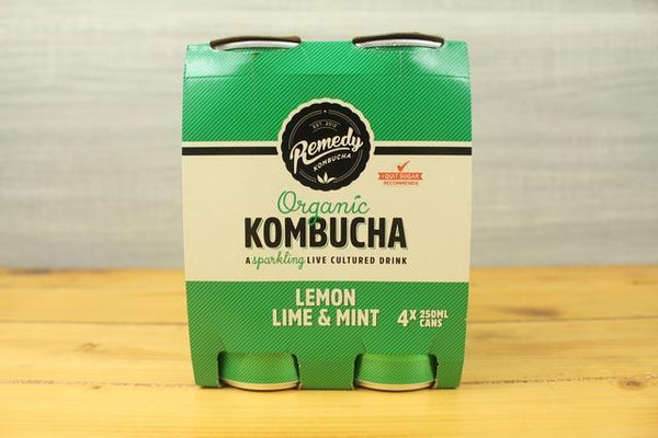 Remedy Kombucha RKO Multipack Lemon Lime Mint 4 X 250ml Drinks > Juice, Smoothies & More