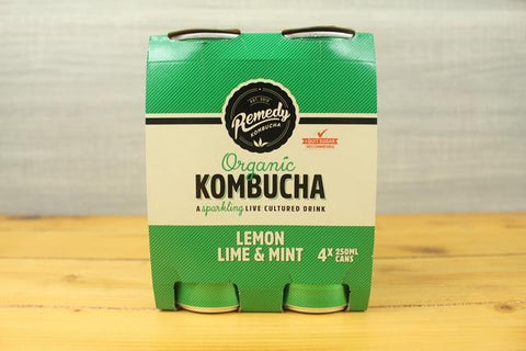 Lemon Lime Mint Organic Kombucha 750ml