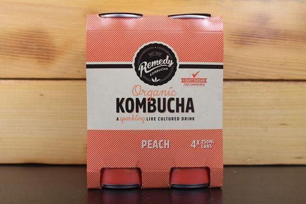Remedy Kombucha Rko Multipack Peach 4x250ml Drinks > Soft Drinks & Mixers