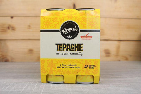 Remedy Kombucha Tepache Multipack Live Cultured Soda 4 x 250ml Drinks > Soft Drinks & Mixers