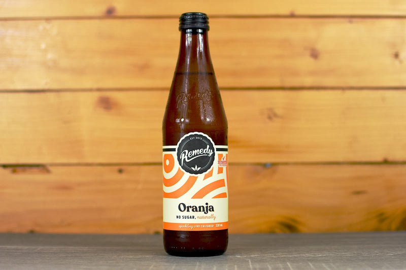 Remedy Oranja Live Cultured Soda 330ml Drinks > Soft Drinks & Mixers
