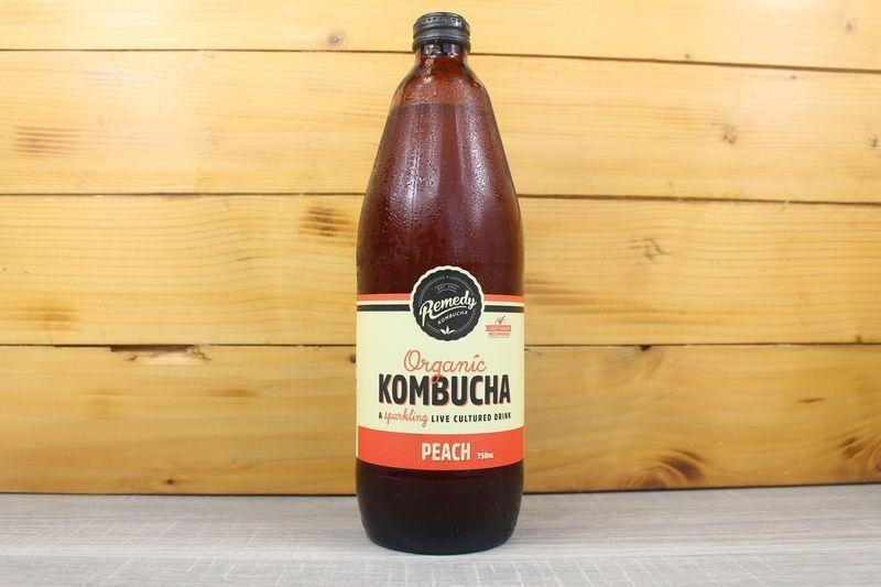 Remedy Organic Kombucha Peach 750ml Drinks > Kombucha & Health Drinks
