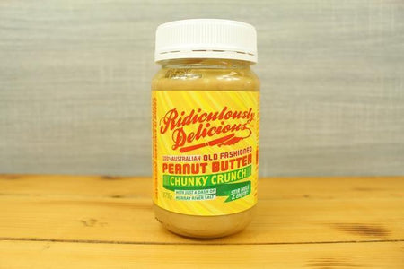 Ridiculously Delicious Chunky Crunch Peanut Butter 375g Pantry > Nut Butters, Honey & Jam