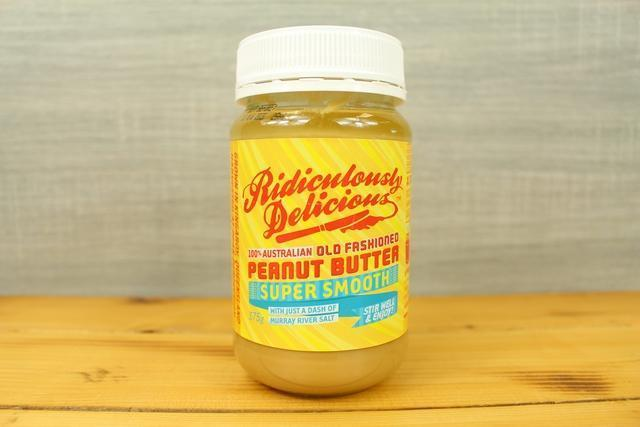Ridiculously Delicious Super Smooth Peanut Butter 375g Pantry > Nut Butters, Honey & Jam