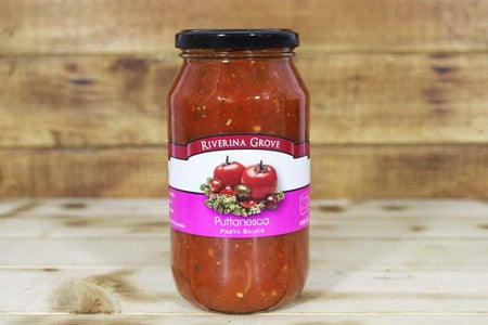 Riverina Grove Puttanesca Pasta Sauce 500g Pantry > Pasta, Sauces & Noodles