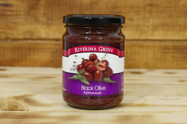 Riverina Grove Tapenade Black Olive 240g Pantry > Condiments