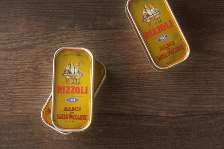 Rizzoli Anchovy Fillets in Spicy Sauce 90g Pantry > Canned Goods