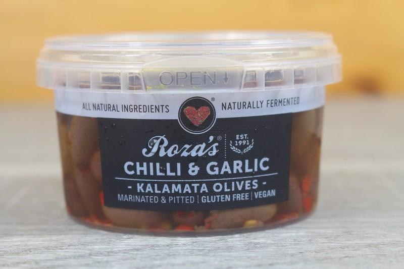 Roza's Gourmet Chilli Garlic Olives 200g Pantry > Antipasto, Pickles & Olives